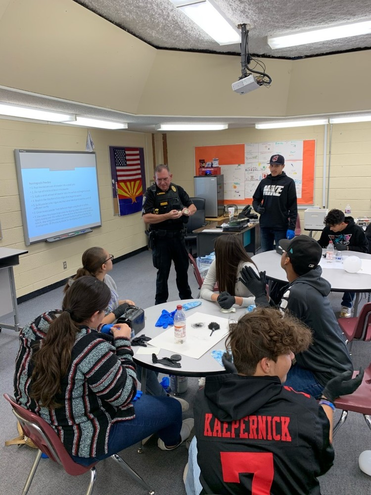 High School Law Enforcement Class