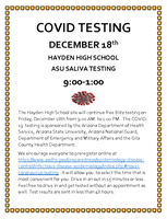 COVID FREE SALIVA TESTING - FRIDAY, DEC. 18, 2020