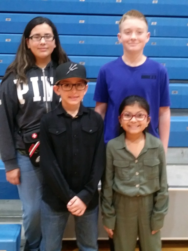 District Spelling Bee Winners 2020 1st Place: Ryan Garner; 2nd Place: Isabell De Los Reyes; 3rd Place: Abrianna Torrez; 4th Place; Keiston Pool